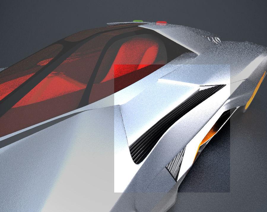 Lamborghini Egoista royalty-free 3d model - Preview no. 13