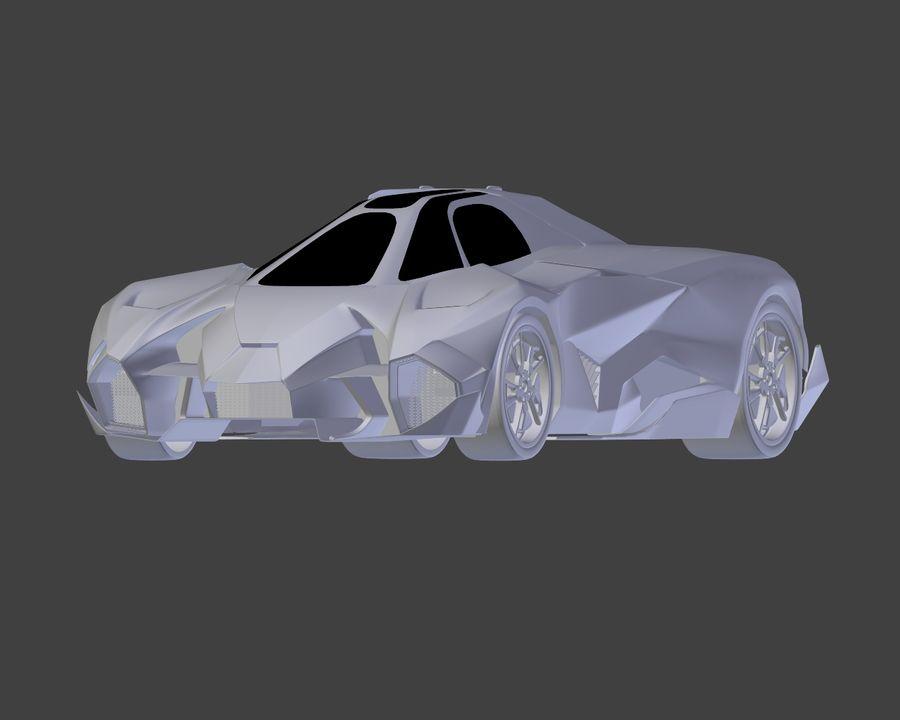 Lamborghini Egoista royalty-free 3d model - Preview no. 25