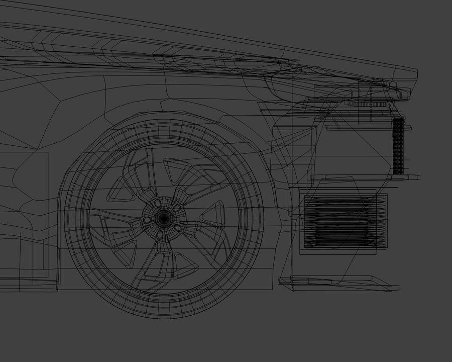 Lamborghini Egoista royalty-free 3d model - Preview no. 30