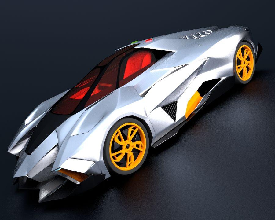 Lamborghini Egoista royalty-free 3d model - Preview no. 1