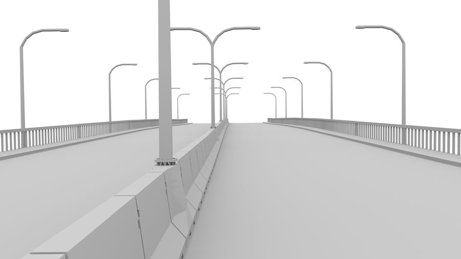 Bridge royalty-free 3d model - Preview no. 5