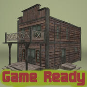 Western house - game ready 3d model