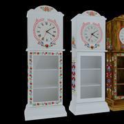 orologio da terra in legno piccolo 3d model