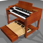 Hammond B3 Organ / Keyboard: C4D Model 3d model