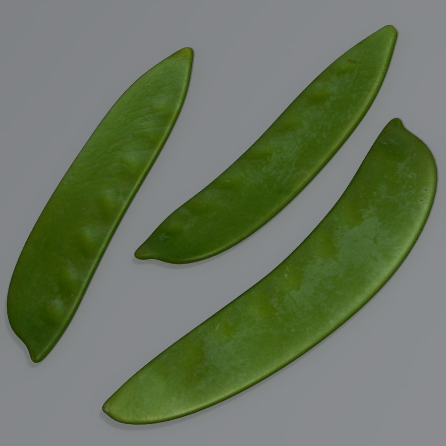 Mange tout royalty-free 3d model - Preview no. 3