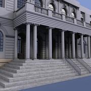 纽约市政厅前墙 3d model