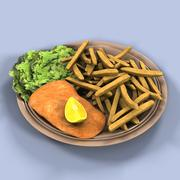Fish and Chips 3d model