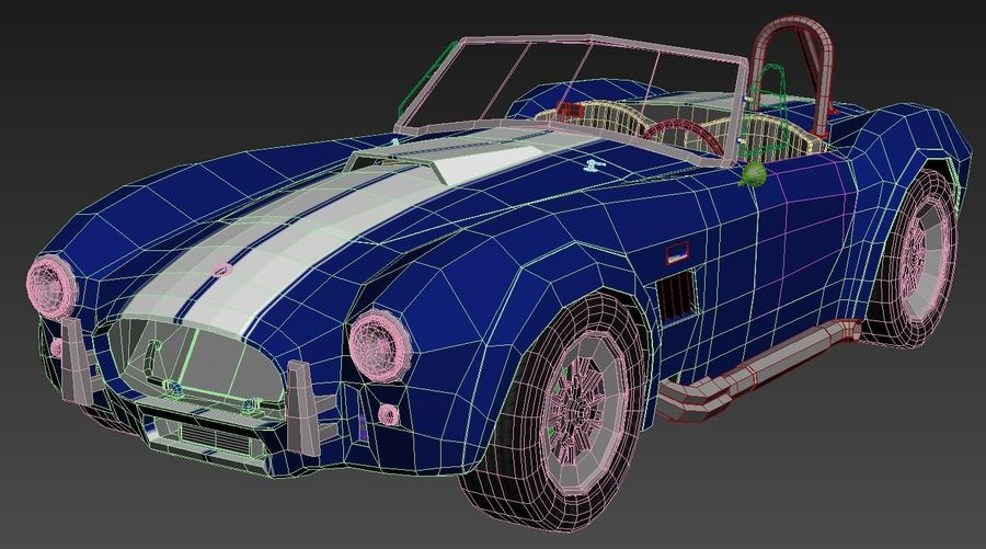 Shelby AC Cobra royalty-free 3d model - Preview no. 11