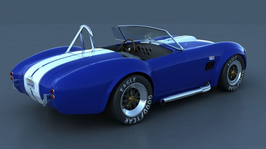 Shelby AC Cobra royalty-free 3d model - Preview no. 3