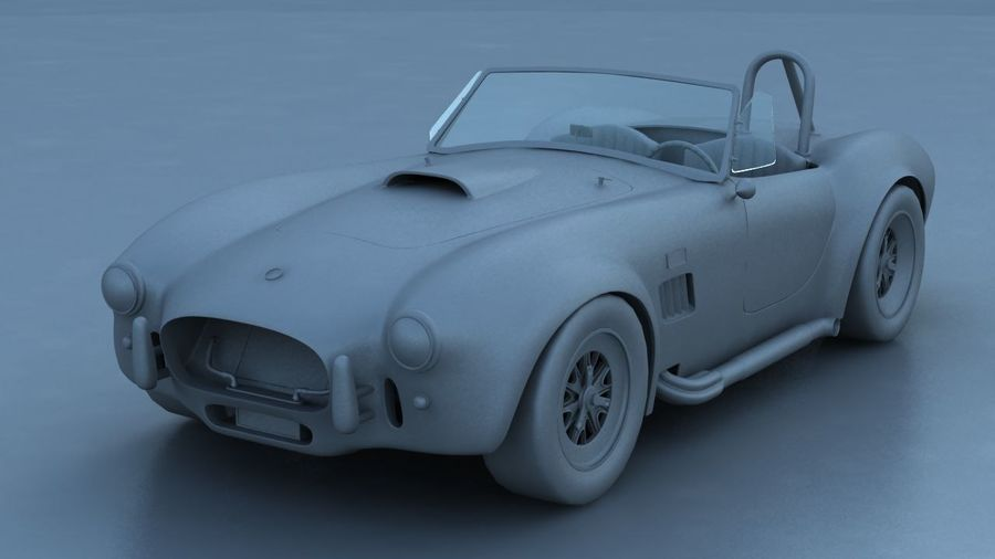 Shelby AC Cobra royalty-free 3d model - Preview no. 6