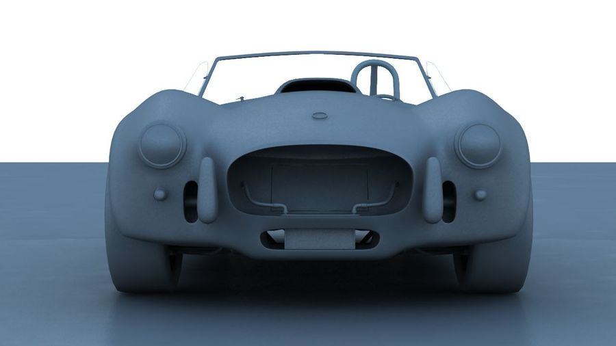 Shelby AC Cobra royalty-free 3d model - Preview no. 10