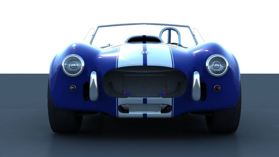 Shelby AC Cobra royalty-free 3d model - Preview no. 5