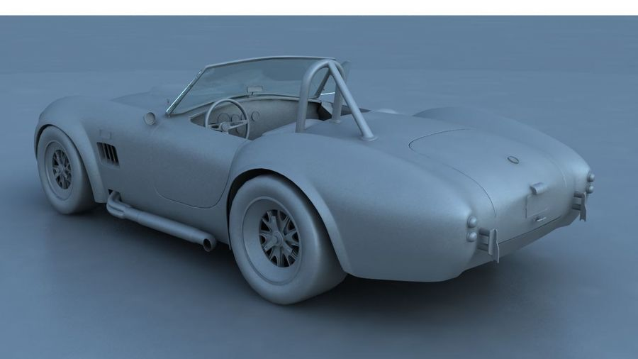 Shelby AC Cobra royalty-free 3d model - Preview no. 7