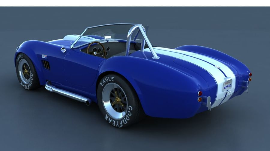 Shelby AC Cobra royalty-free 3d model - Preview no. 2