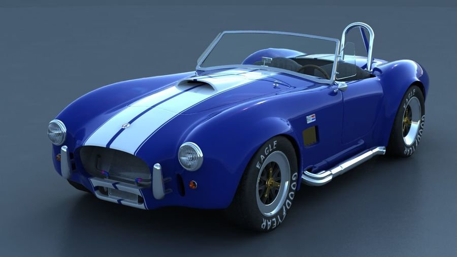 Shelby AC Cobra royalty-free 3d model - Preview no. 1