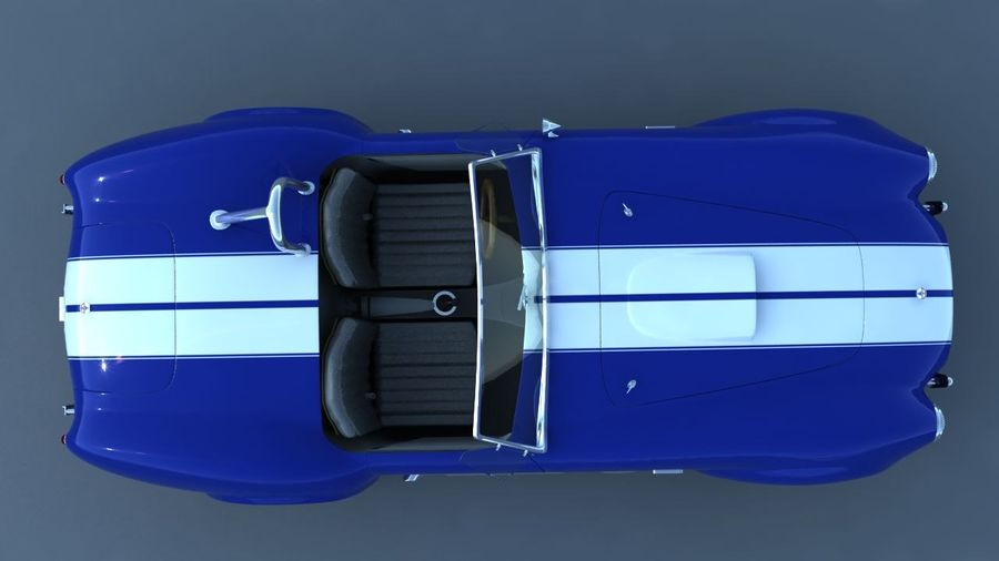 Shelby AC Cobra royalty-free 3d model - Preview no. 4