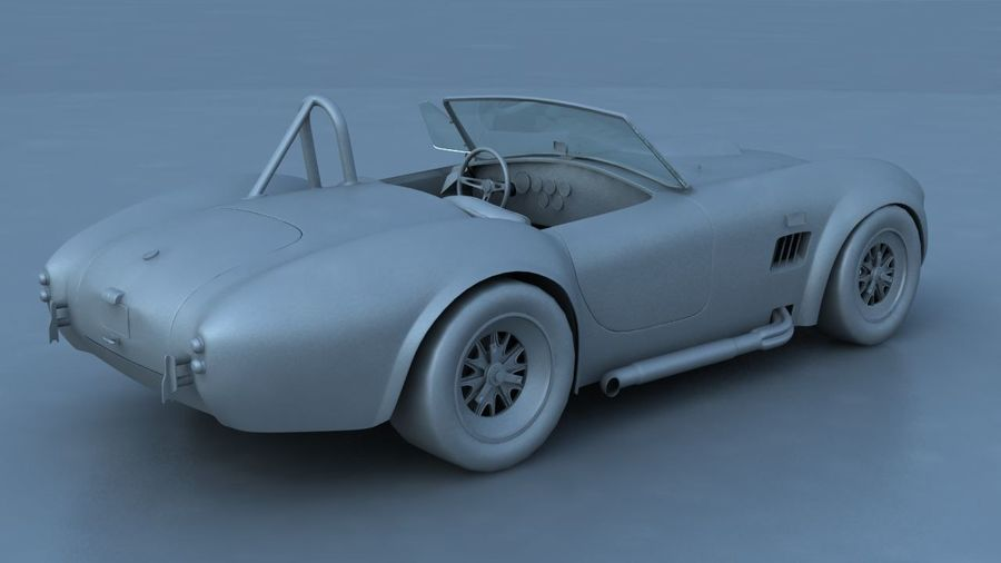 Shelby AC Cobra royalty-free 3d model - Preview no. 8