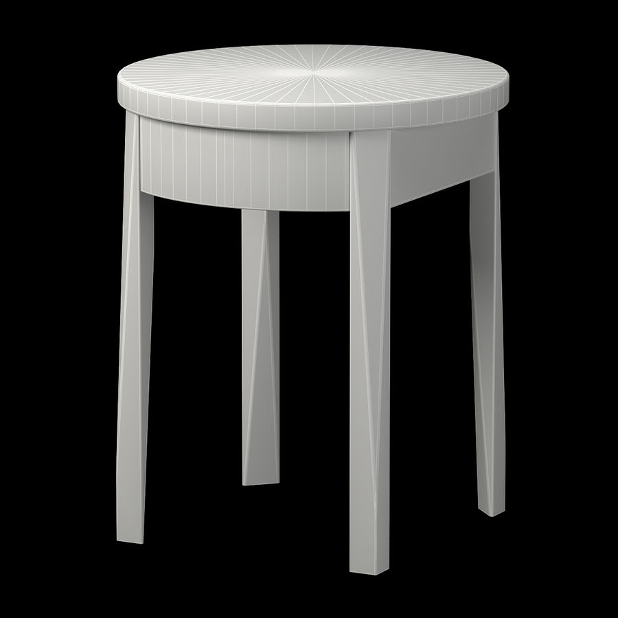 Ikea bedside table royalty-free 3d model - Preview no. 2