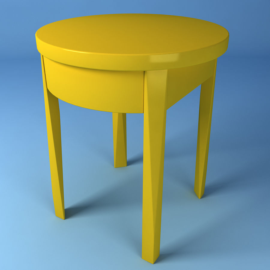 Ikea bedside table royalty-free 3d model - Preview no. 6