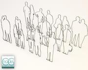 people silhouette - packet 02 3d model