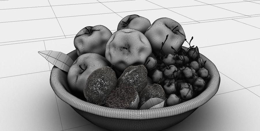 Corbeille de fruits royalty-free 3d model - Preview no. 2