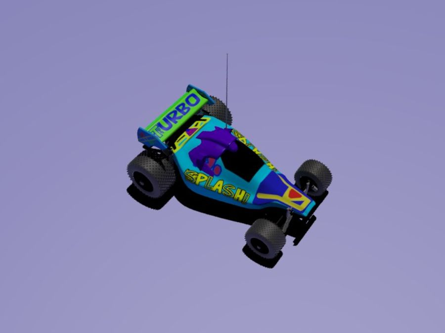 RC-Car royalty-free 3d model - Preview no. 7