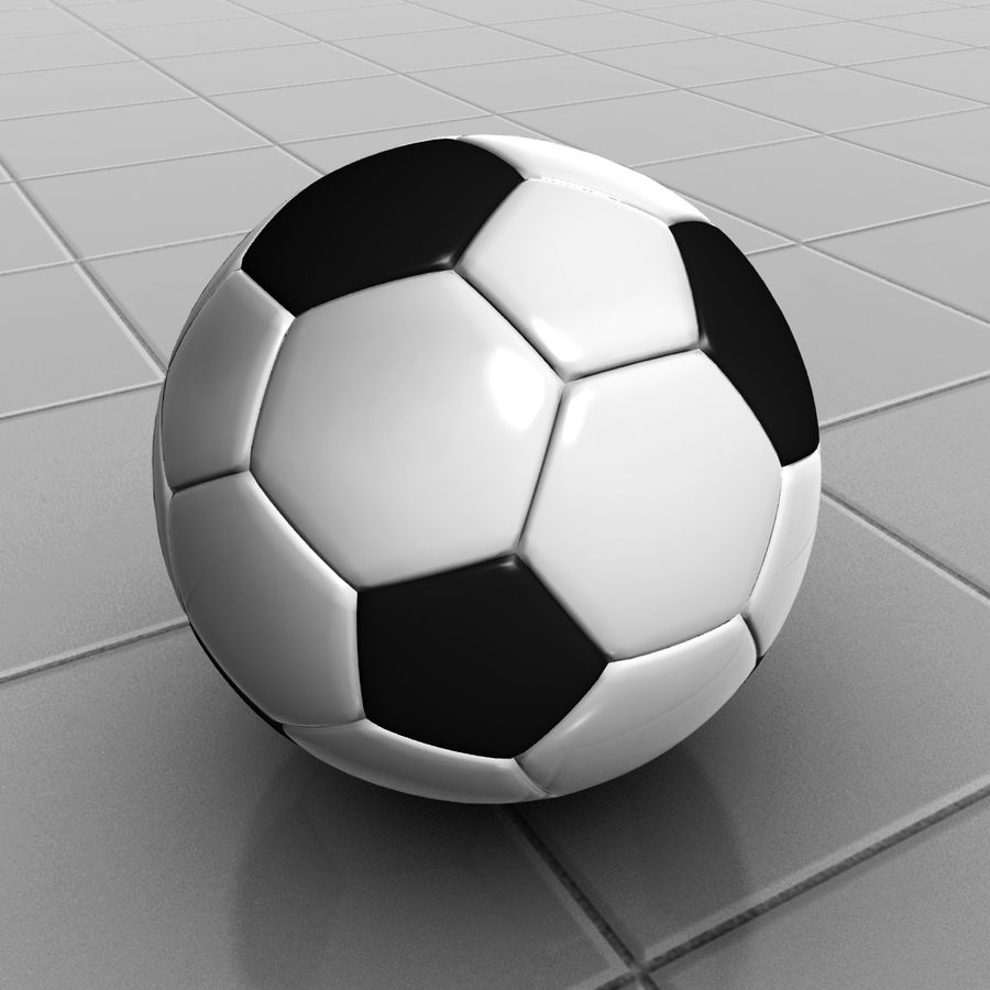 Football royalty-free 3d model - Preview no. 2