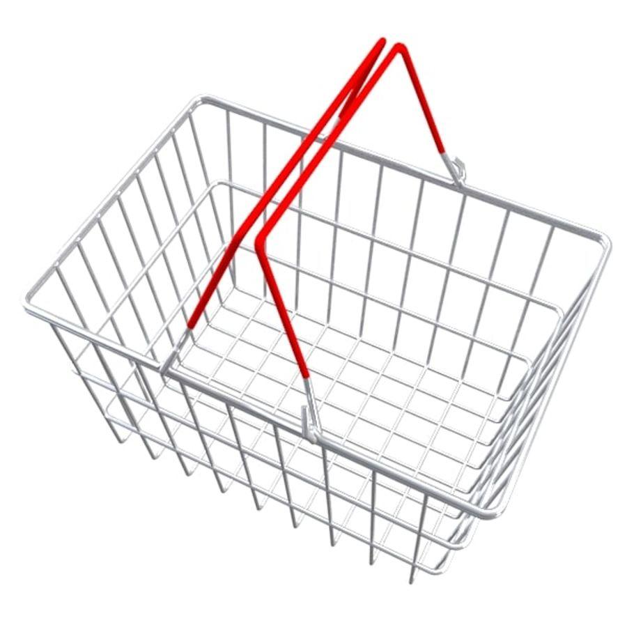cestas de compras de supermercado royalty-free 3d model - Preview no. 2