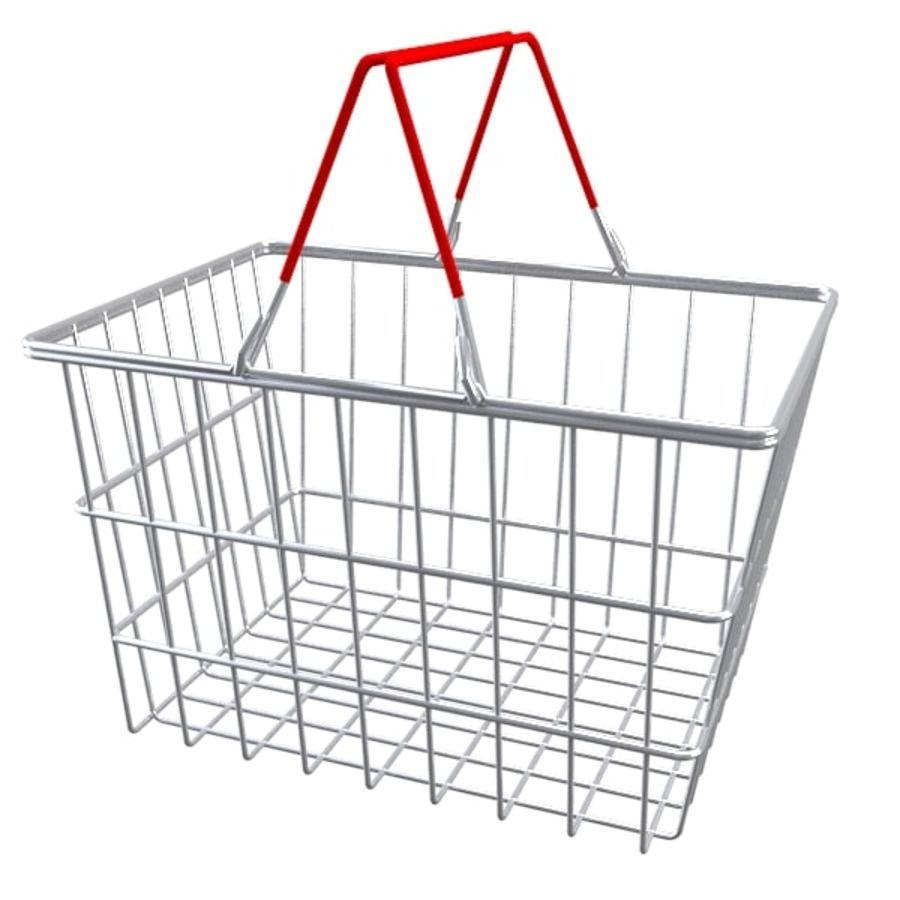 cestas de compras de supermercado royalty-free 3d model - Preview no. 1