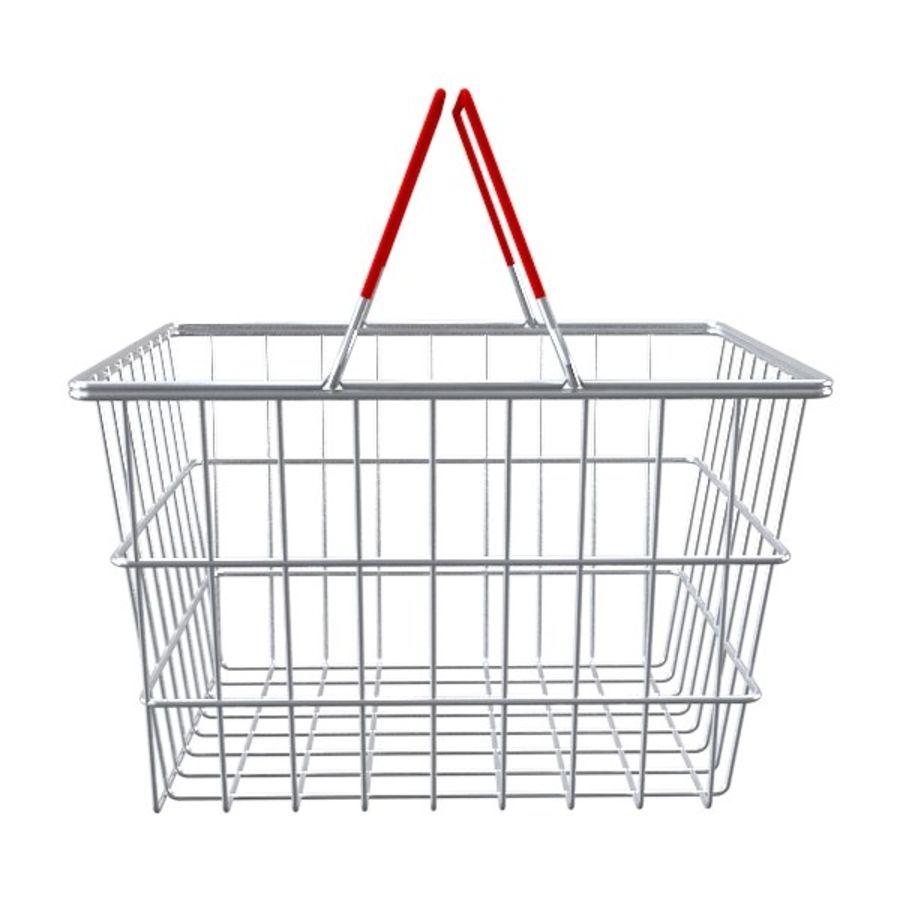 cestas de compras de supermercado royalty-free 3d model - Preview no. 3