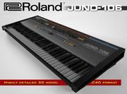 罗兰JUNO-106 3d model