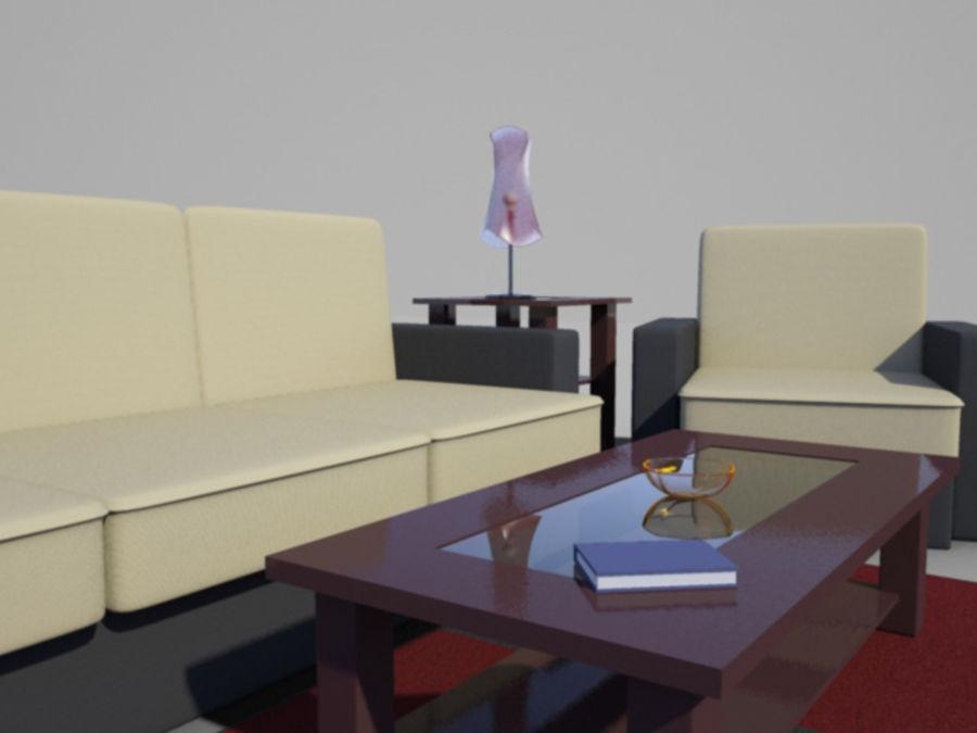 リビングシーン royalty-free 3d model - Preview no. 5