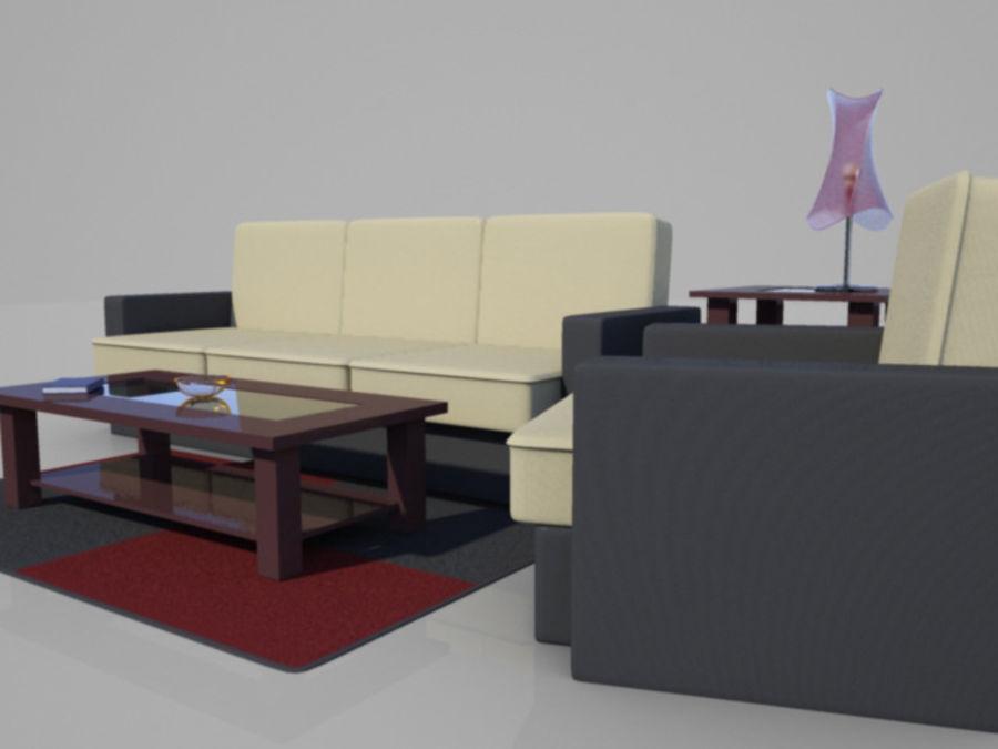リビングシーン royalty-free 3d model - Preview no. 4