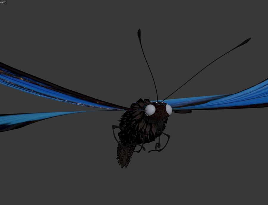 Latający motyl royalty-free 3d model - Preview no. 7