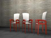 餐椅侧面螺丝 3d model