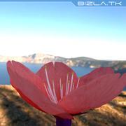 Красный цветок 3d model
