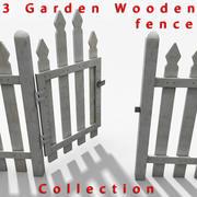 Kolekcja ogrodzeń drewnianych 3d model