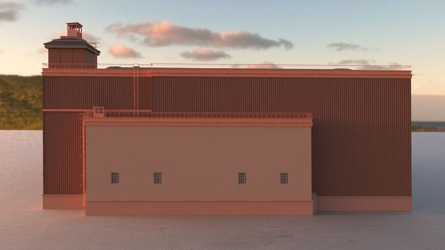 Airplane Hangar royalty-free 3d model - Preview no. 4