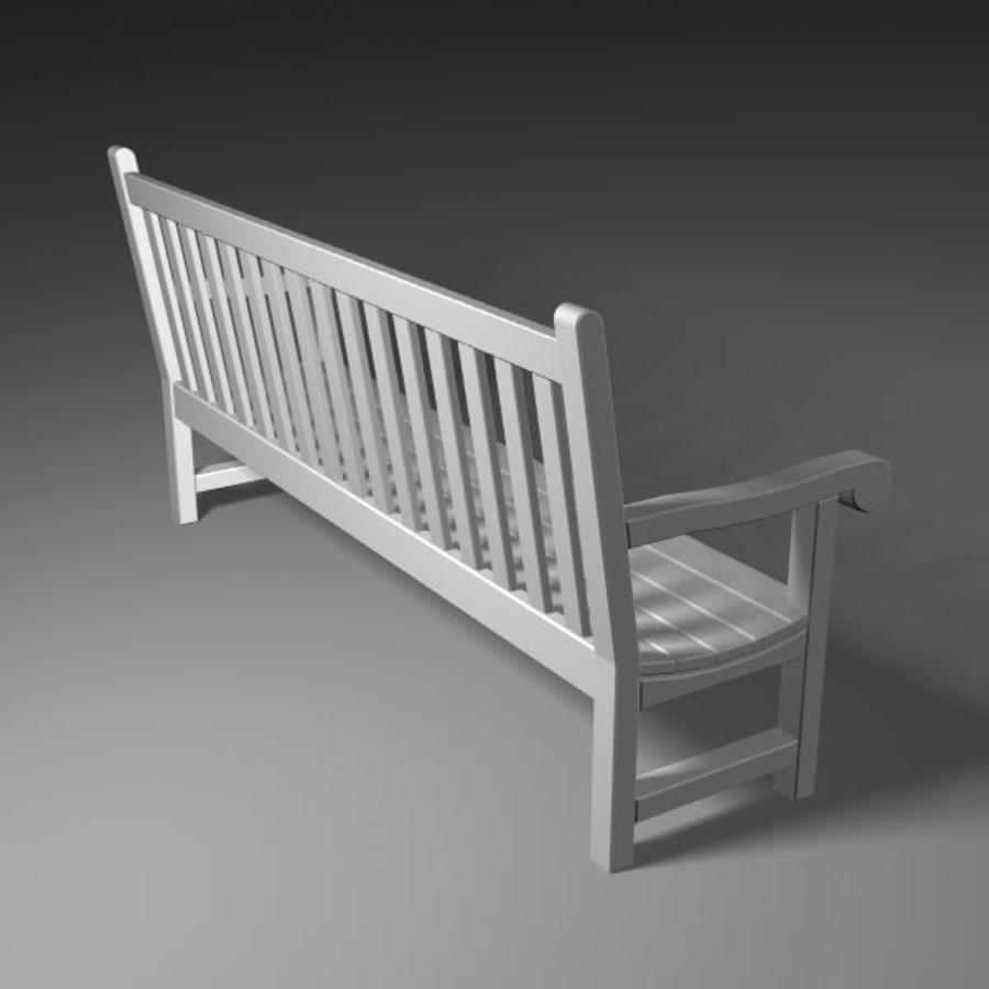 Garden Bench royalty-free 3d model - Preview no. 3