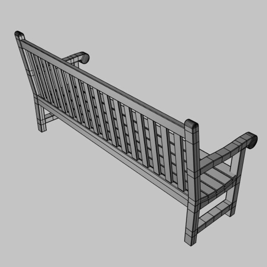 Garden Bench royalty-free 3d model - Preview no. 6