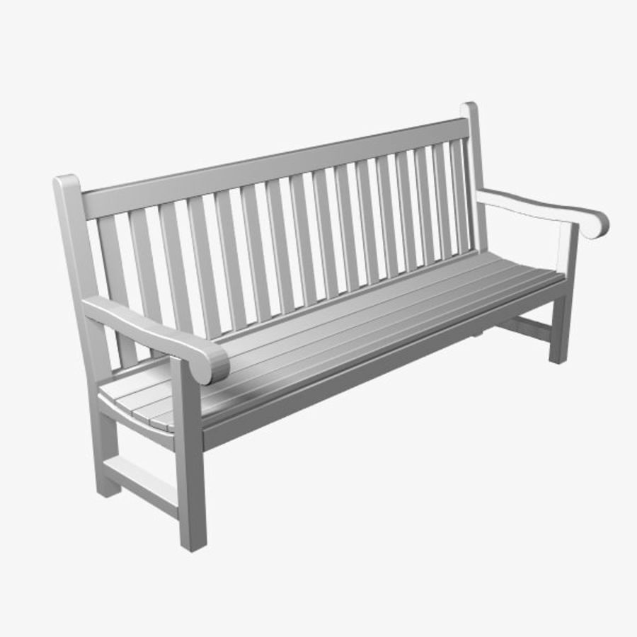 Garden Bench royalty-free 3d model - Preview no. 1