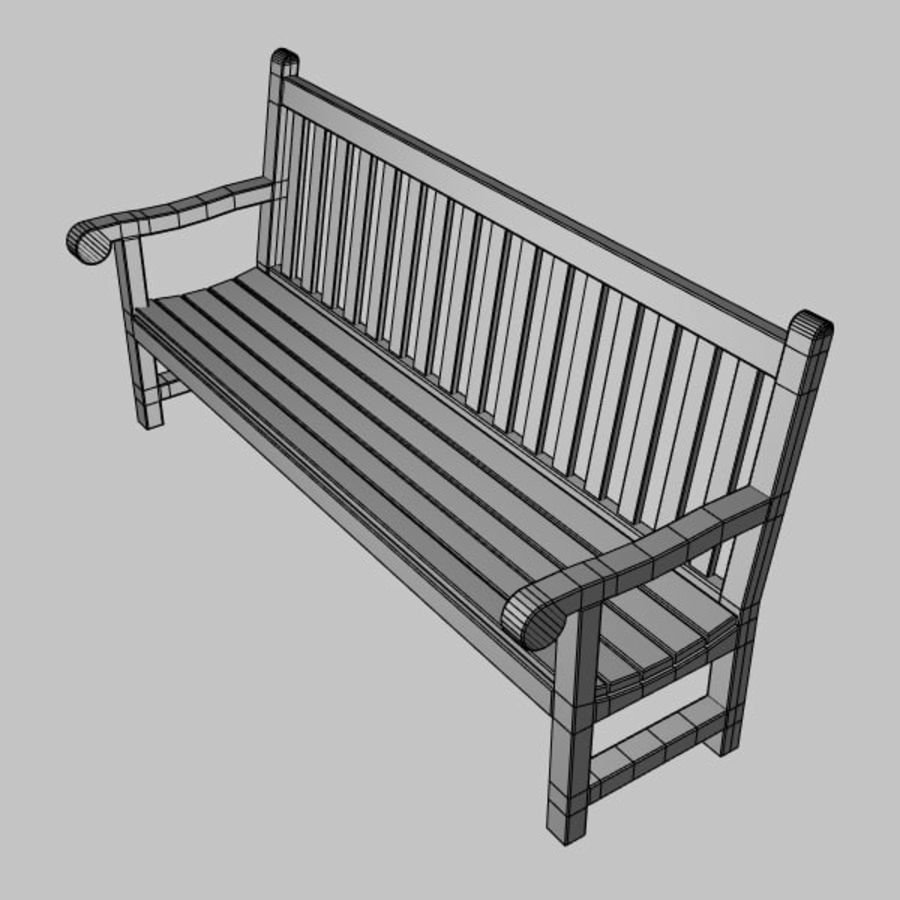 Garden Bench royalty-free 3d model - Preview no. 5