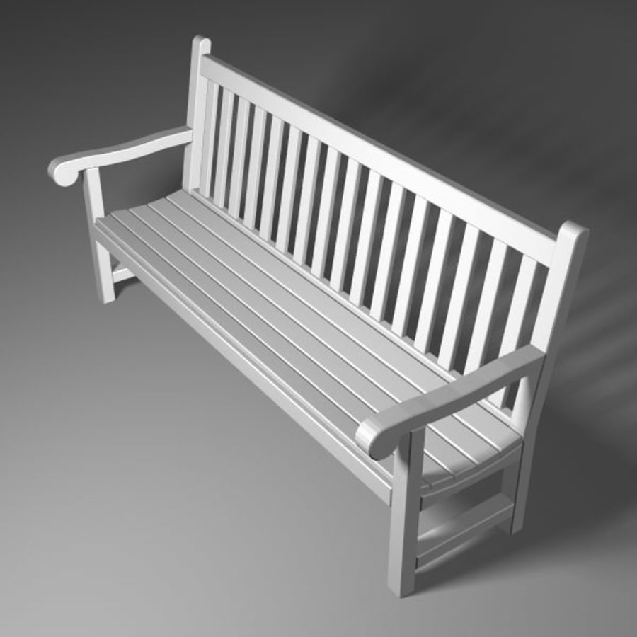Garden Bench royalty-free 3d model - Preview no. 4