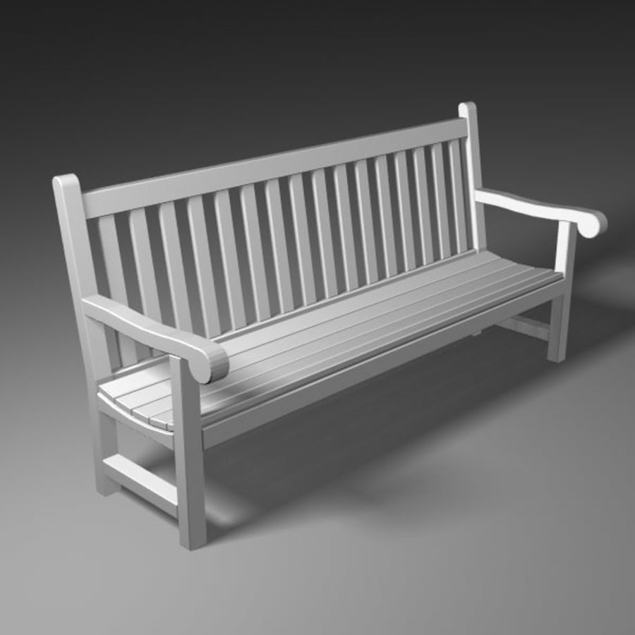 Garden Bench royalty-free 3d model - Preview no. 2