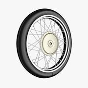 スポークとタイヤ付きのオートバイ/自転車の車輪 3d model