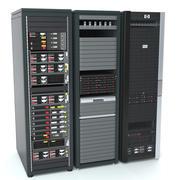 HP 서버 랙 팩 3d model