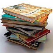 Pilhas de livros 3d model
