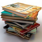 Book stacks 3d model