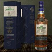 Glenlivet Scotch whisky 18 years old bottle and box 3d model