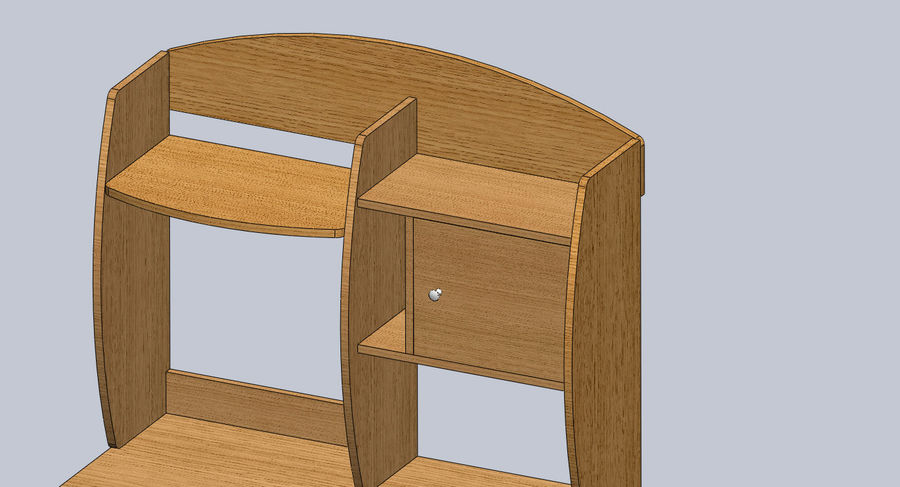 木製テーブル royalty-free 3d model - Preview no. 4